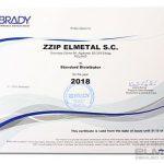 certyfikat brady 2018