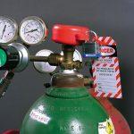 Blokada dużych butli gazowych