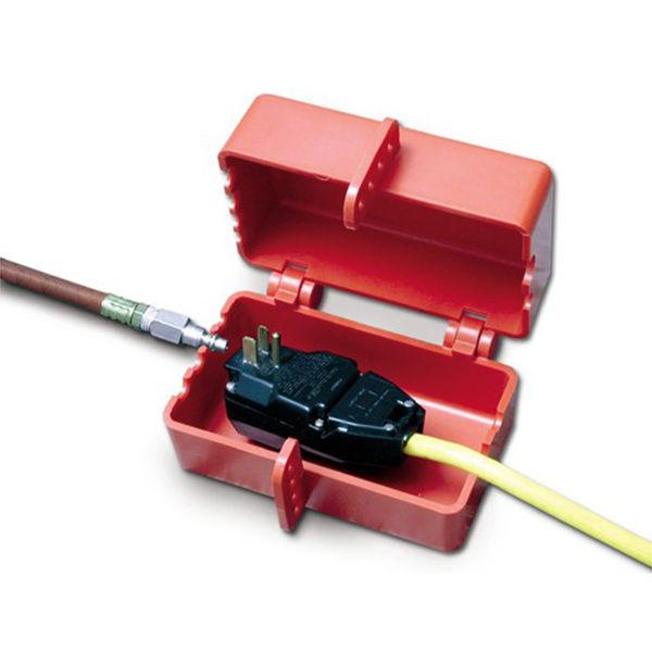 Blokada dużych elektrycznych oraz pneumatycznych złączy wtykowych