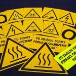 Oznakowania informacyjne i ostrzegawcze