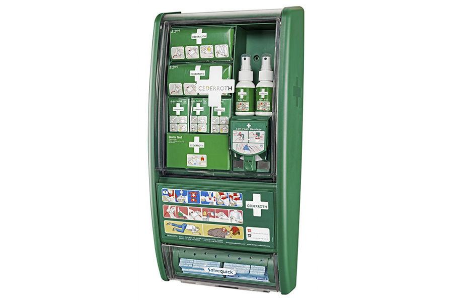 Stacja pierwszej pomocy i opatrywania oparzeń