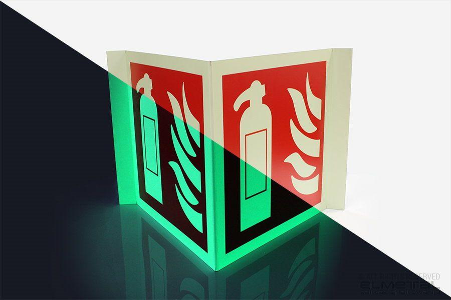 Znaki przestrzenne ewakuacyjne, przeciwpożarowe, BHP