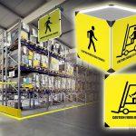 Interaktywne znaki i bramki LED