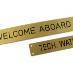Brass engraved id plates
