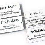 Laminate engraved data plates
