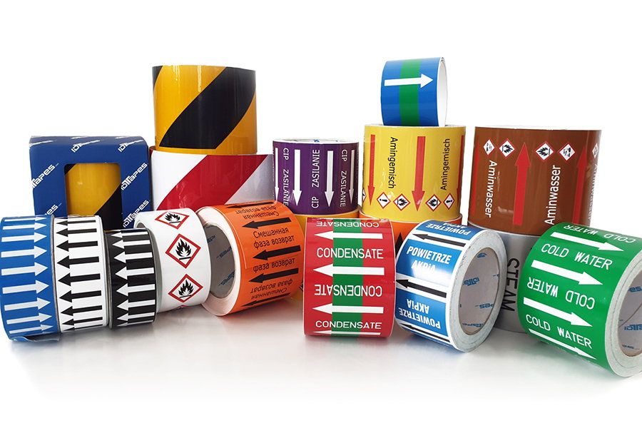Pipe marking tapes