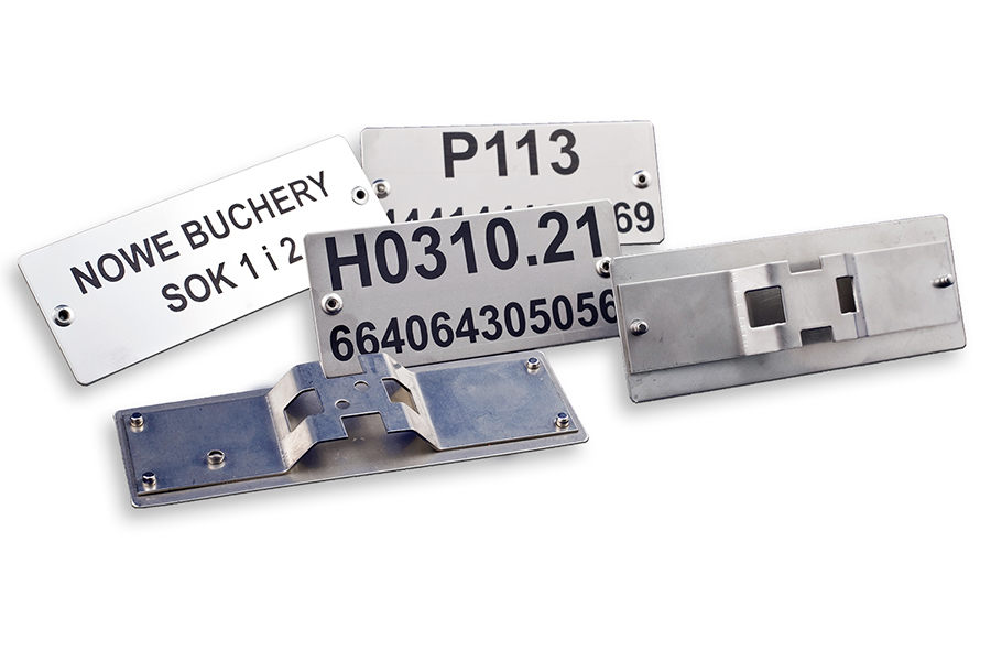 Stainless steel engraved data plates